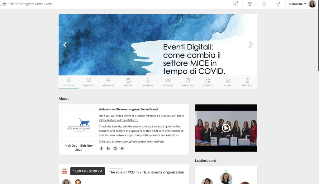 piattaforma eventi virtuali